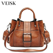 VEISK High Quality PU Leather Top-handle Women Handbag New Ladies Lethe