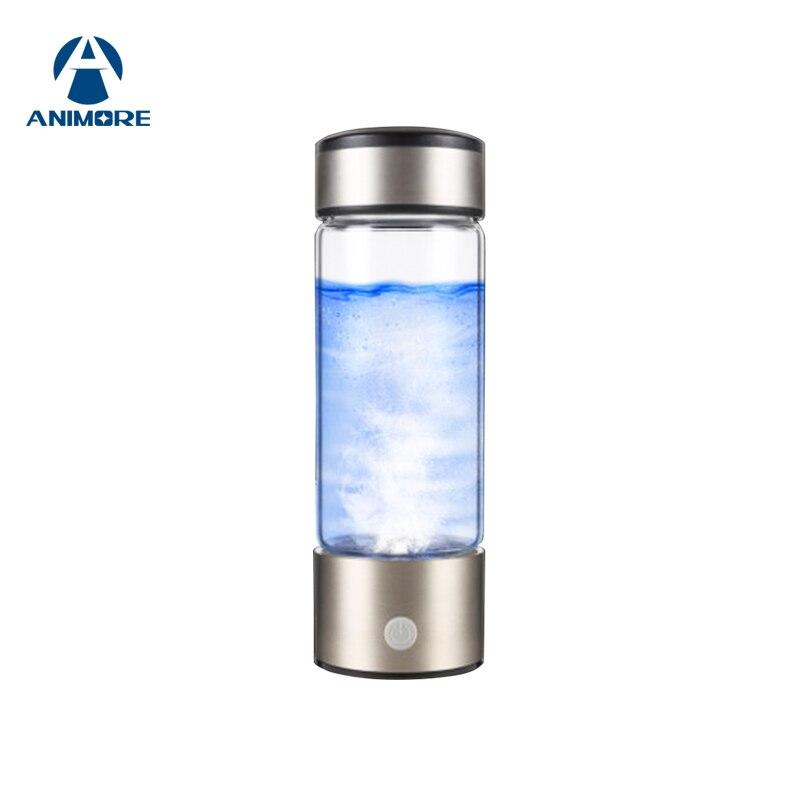ANIMORE hidrógeno rico Portable botella de agua USB recargable ricos generador de agua de hidrógeno electrólisis ionizador de agua RHW-01