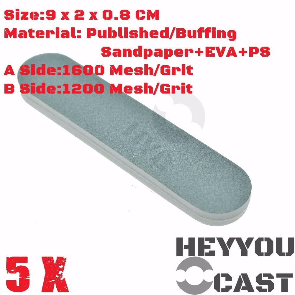 5/Pack Buffing SandPaper Sticks for Model Kit Hobby Finishing Tools Accessory