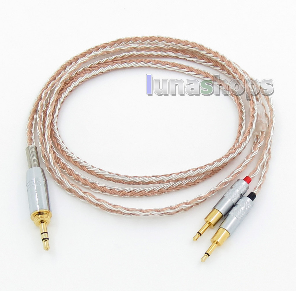 6.5mm 3.5mm 16 Cores OCC Silver Plated Mixed Headphone Cable For Sennheiser HD700 LN005791 800 wires soft silver occ alloy teflo aft earphone headphone cable for sennheiser hd414 hd420 hd430 hd650 hd600 hd580 ln05400