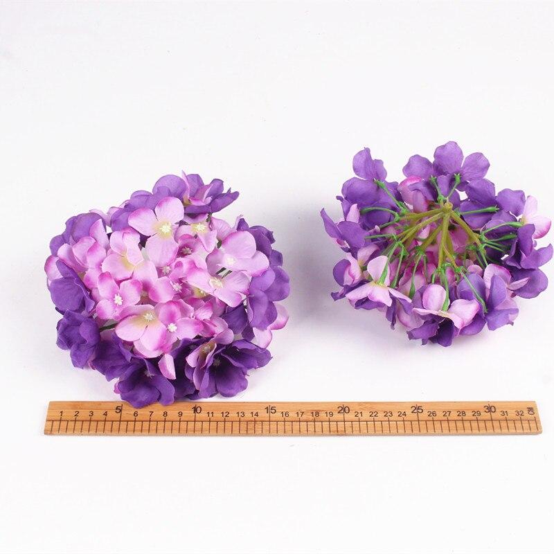 Luksuzni umjetna svila hortenzija cvijet glavu 15cm za DIY vjenčani - Za blagdane i zabave - Foto 5