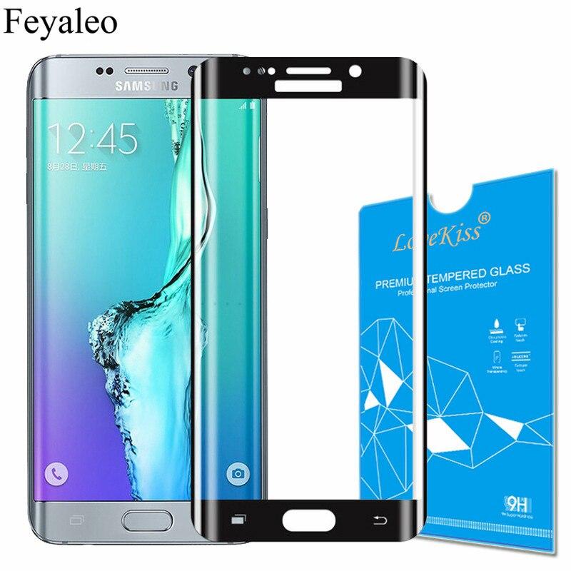 f4c6e7d32af Para Samsung Galaxy S6 borde S7 borde 3D cubierta completa de vidrio  templado para Samsung Galaxy S7 G930F Protector de pantalla película curvada
