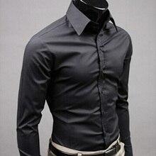 2019Men Shirt Long Sleeve Fashion Mens Casual