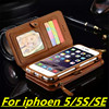 Second Layer Leather Case For IPhone 5 5S SE New Multi Functional 2 In 1 Leather