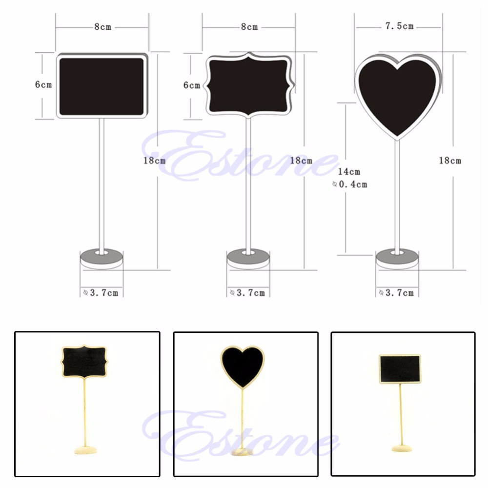 2018 High Quality Portable Party Holder Mini Wooden Blackboard Chalkboard Wooden Message Label Home & Office Use