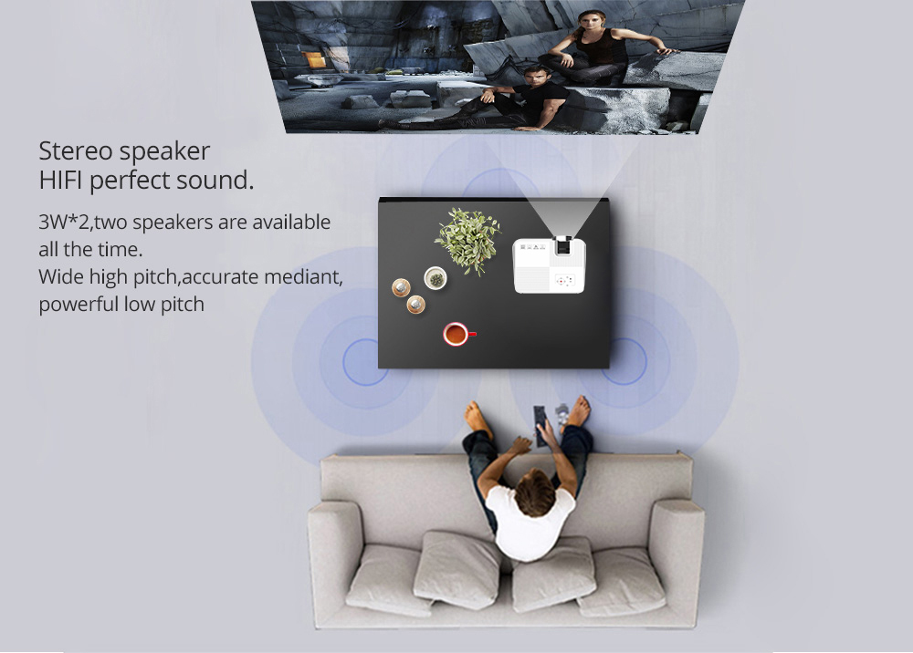 VIVICINE V8 Mini LED Projector (4)