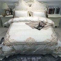 ROWBOE бренд французский суд вышитые атласные хлопковые четыре шт Одеяло простыни наволочка Удобная дышащая домашний текстиль