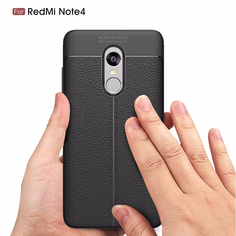 Shockproof Armor Carbon Case for Xiaomi redmi note 4 Cover Soft TPU Silicone Coque for Xiaomi Redmi Note 4 Case Leather Luxury