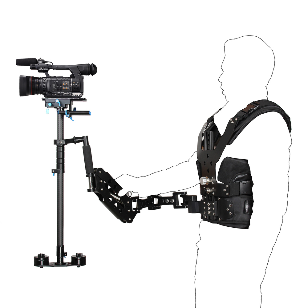 New desigen gimbal stabilizer Steadycam Gyroscope Gyro steadicam waistcoat vest with singel handel for dslr Digital video Camera