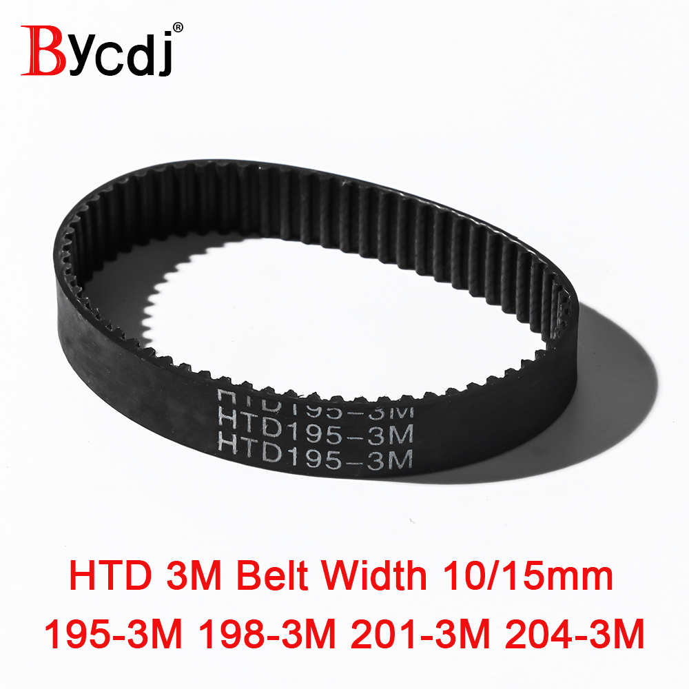204-3M-15 HTD Timing Belt 204 mm Long 15mm wide /& 3mm Pitch