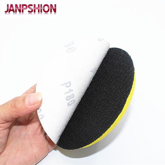 "Купить с кэшбэком JANPSHION 100pcs 7"" 180mm Peel & Stick Sandpaper Sanding Disc for Sander with Grit 60 80 120 180 240 320 400 600 800 1000 1200"