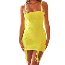 Sexy Dress Slash Neck Mini Club Party Dress festa Sleeveless Backless Bodycon Dress Bandage Summer Dresses for Women Vestidos sexy round neck sleeveless backless bodycon dress for women