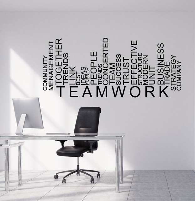 teamwork words wall decal art sticker business office room wall