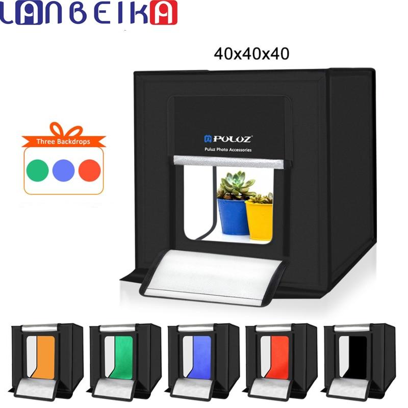 LANBEIKA 40 40cm 16inc Photo Studio Box Lightbox Photograghy Softbox Led Photo Lighting Studio Shooting Tent