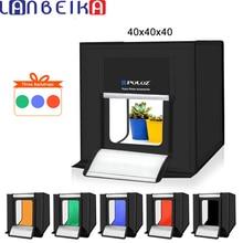 LANBEIKA 40*40cm 16 אינץ תמונה סטודיו תיבת Lightbox Photograghy Softbox Led תמונה תאורת סטודיו ירי אוהל תיבה ערכת תיבת אור