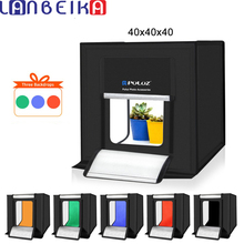 LANBEIKA caja de luz para estudio fotográfico, 40x40cm, 16 pulgadas, iluminación Led para fotografía, estudio de fotografía