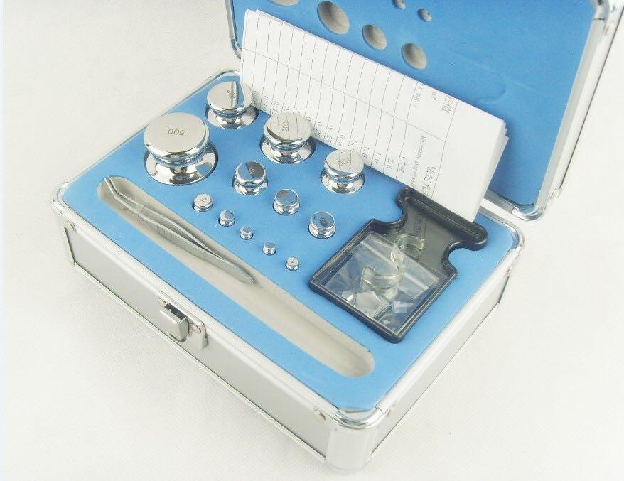M1 Grade 24 pièces 1 mg-500g/25 pièces 1 mg-1 kg 304 Kit de poids d'étalonnage de balance numérique en acier inoxydable