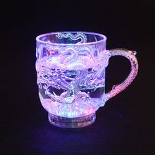 Colorful Flashing Led Light Cup Magic Led Champagne Glass Flash Wine Beer Bar Mug Drink Cup for Party Wedding KTV Glowing Toy(China)