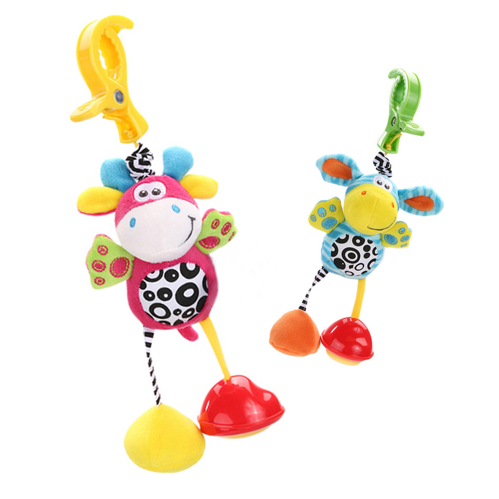 Cute Baby Toys Soft Plush baby mobile Stroller Rattles Toy Rattles Hanging Bed Stroller  ...