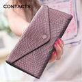 2016 New Hot Women's Purse Genuine Leather Real Leather Snake pattern Print Ladies Purse Long Wallet  Clutch Phone Holder Bag