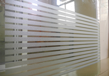 New stripes static cling opaque self-adhesive glass film sunscreen insulation bedroom Bathroom Sliding door  window film