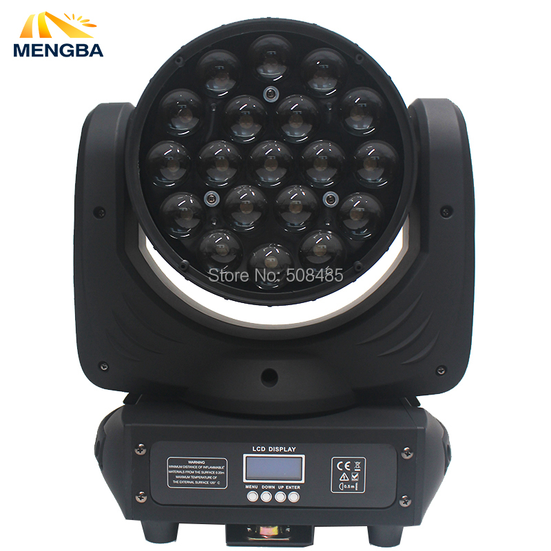 MENGBA High Quality 19x15W RGBW 4in1 LED Wash/Zoom Light DMX512 Moving Head Light Professional Stage Light LED Stage MachineMENGBA High Quality 19x15W RGBW 4in1 LED Wash/Zoom Light DMX512 Moving Head Light Professional Stage Light LED Stage Machine
