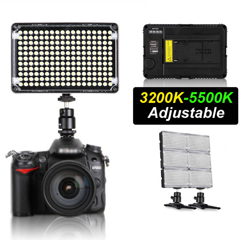 ФОТО Pro Aputure Amaran H198C CR95+ LED Video Light Camera Camcorder Light Adjustable Colour Temperature For Canon Nikon Sony Pentax