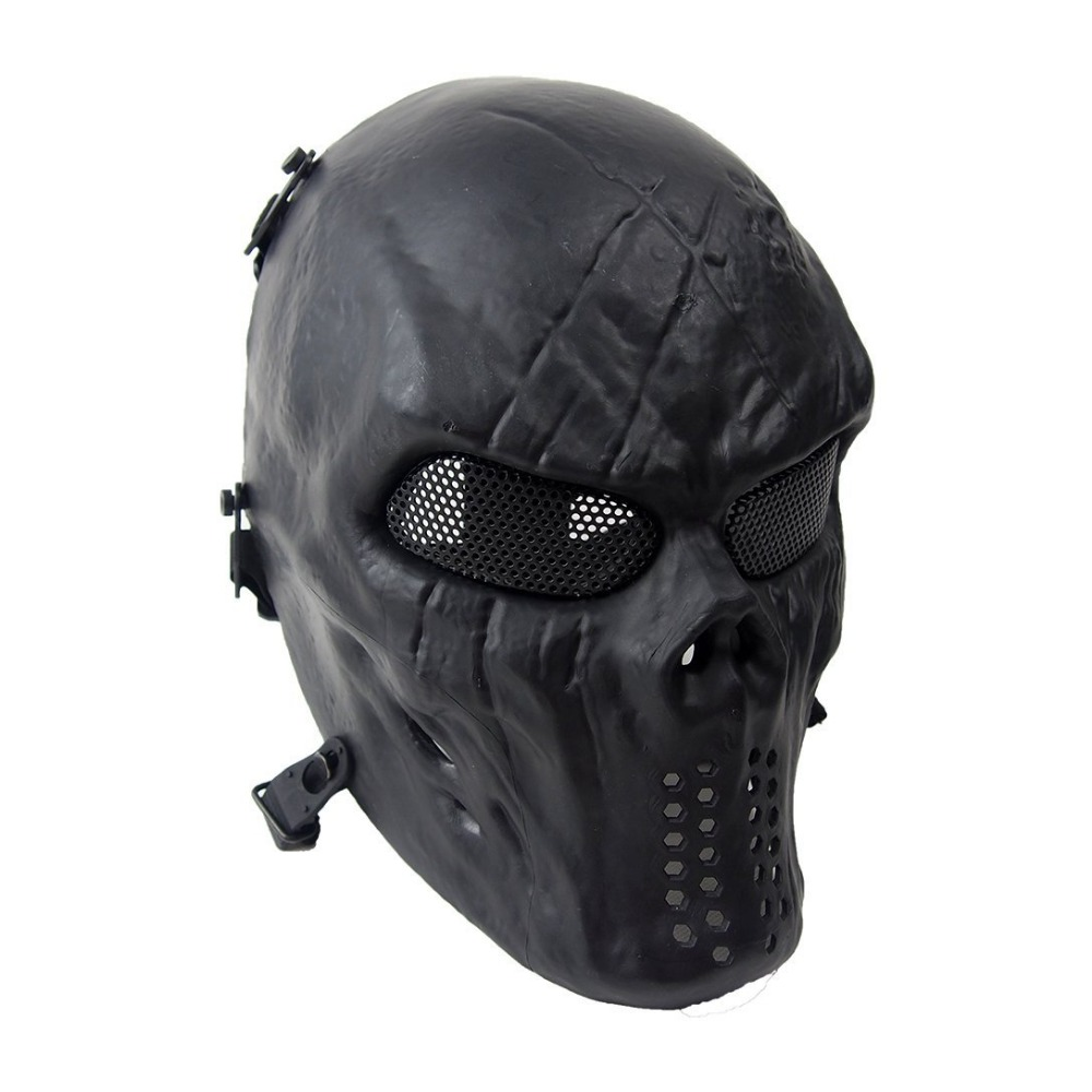 Outdoor CS Go Field Operation Skull Airsoft Shocker Masks With Metal Mesh Eye Protective Visor Full Face Protection Mask Cs