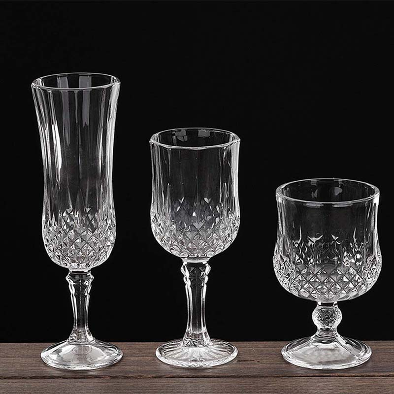 crystal wine glasses new arrival wine goblet facets decor glass 30002