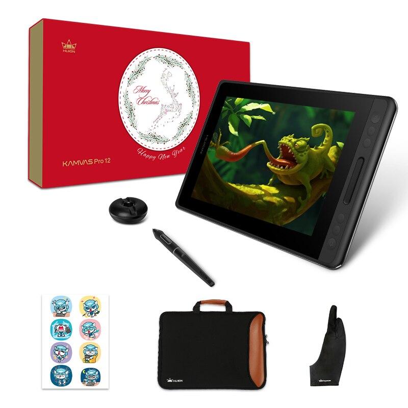 HUION Kamvas Pro 12 GT-116 Limitée Cadeau Pack Stylo Tablette Moniteur Art Graphique Dessin Stylo Affichage Moniteur avec Cadeaux Gratuits