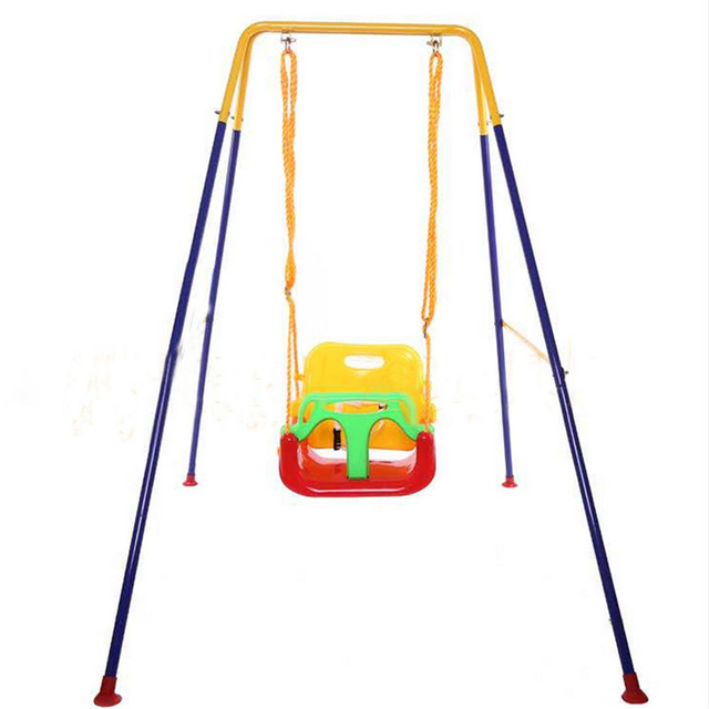 Children Swing Infant Baby Indoor Outdoor Play Fun Toys Playground Hanging Chair Kids Gift Security Steel Pipe Seat Hommock