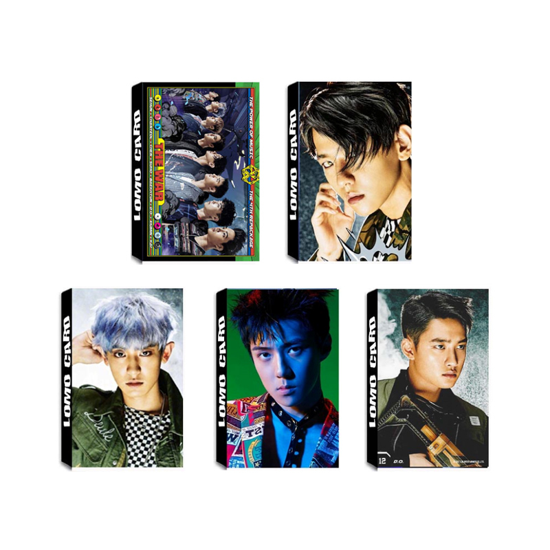 Jewelry & Accessories Kpop Exo The War The Power Of Music Album Lomo Cards K-pop New Fashion Self Made Paper Photo Card Hd Photocard Lk513 Skillful Manufacture