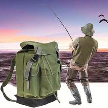 70L Large Capacity Fishing Bag Multifunctional Bag Backpack Outdoor Fishing Tackle Bag Canvas Bag outdoor backpack waterproof large capacity mounting bag travelling bag 70l polyester honeycomb breathable pad