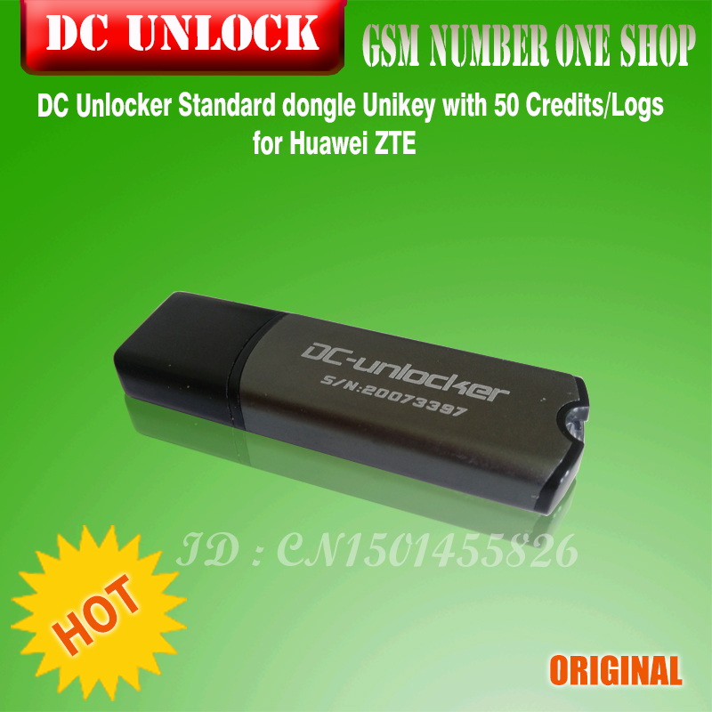 100% Original NEW DC Unlocker Dcunlocker With 50 Credits For Huawei ZTE Unlock And Repair Free Shipping
