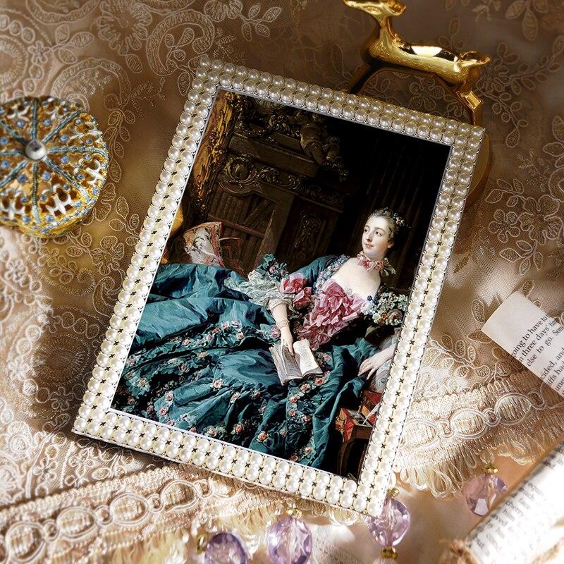 American Retro Modern diamond pearl background photo photo wall model room decoration decoration Desktop Photo Frame