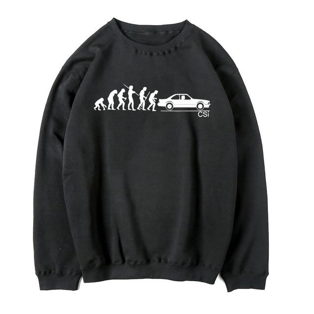 908cb1de00ab Funny Car Hoodies Sweatshirts 5 Series Evolution Men s Classic Men Cool Bmw  E34 E36 Grey black Hoodies Male Supercar C0003