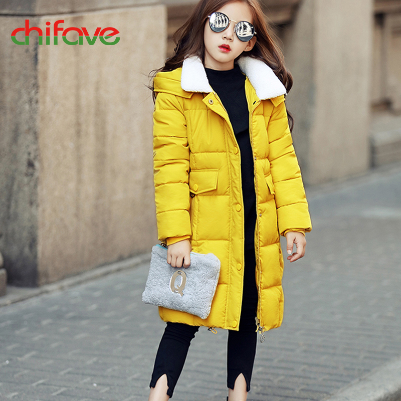2017 chifave Baby Girls Winter Coat Hooded Warm Parkas Children Girls Clothes Winter Jacket For Girls Top Kids Clothing Outwear children winter coats jacket baby boys warm outerwear thickening outdoors kids snow proof coat parkas cotton padded clothes
