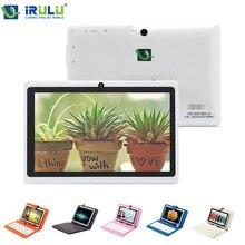 iRULU 7 дюймовый двойная камера планшет Allwinner A33 четырехъядерных процессор 1.5 ГГц планшет ПК 512МБ + 8 ГБ двойная камера WIFI белый ж / клавиатура чехол