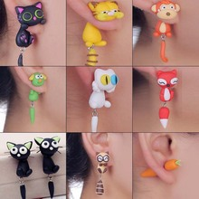 The soft pottery clay wholesale ear nail cartoon body pure hand to make the new handicraft ornament pendant