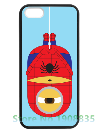 <font><b>Despicable</b></font> <font><b>Me</b></font> <font><b>Minion</b></font> <font><b>Spider</b></font> <font><b>Man</b></font> fashion cell phone <font><b>case</b></font> cover for <font><b>iphone</b></font> 4 4s 5 5s se 5c <font><b>6</b></font> <font><b>6</b></font> plus 6s 6s plus 7 7 plus *vf706