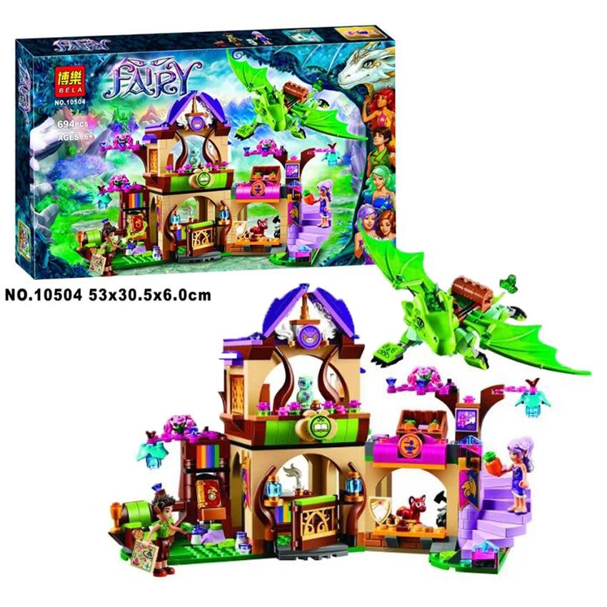 ФОТО Bela 10504 694Pcs Friend Elves The Secret Market Place Model Building Kit Blocks Brick Compatible Girl Toy Gift 41176