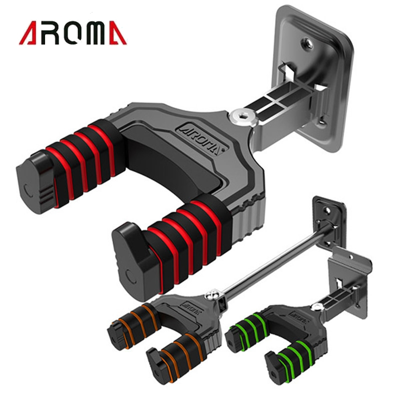 Aroma AH-83 Guitar Ukulele Bass Mount Hooks Stand Holder Wall Hanger For Bass Guitar Ukelele Stringed Instruments Accessories guitar hook hanger wall stand for electric acoustic bass guitar part accessories black 4 pcs