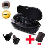 True Wireless Bluetooth 5.0 In Ear Headset Earbud Headphone Earpiece Hands free with Microphone Noise Cancelling for iPhone