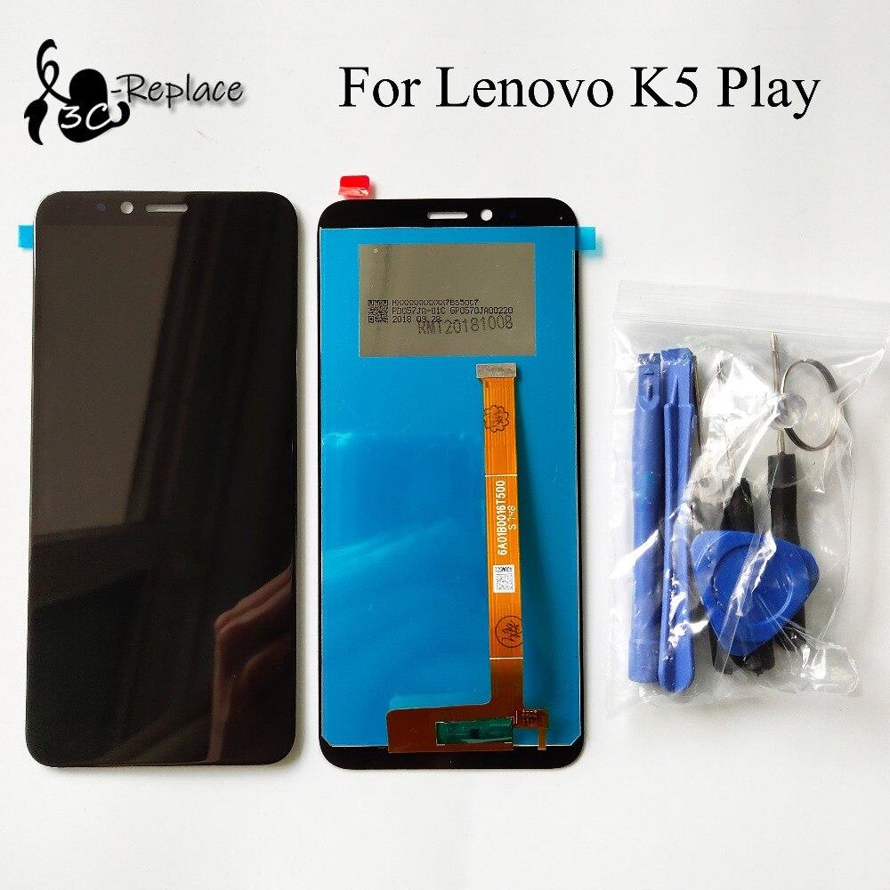 Оригинальный черный 5,7 дюйма для Lenovo K5 Play L38011 Полный ЖК дисплей сенсорный экран дигитайзер сборка запасные части Бесплатные инструменты Экраны для мобильных телефонов      АлиЭкспресс