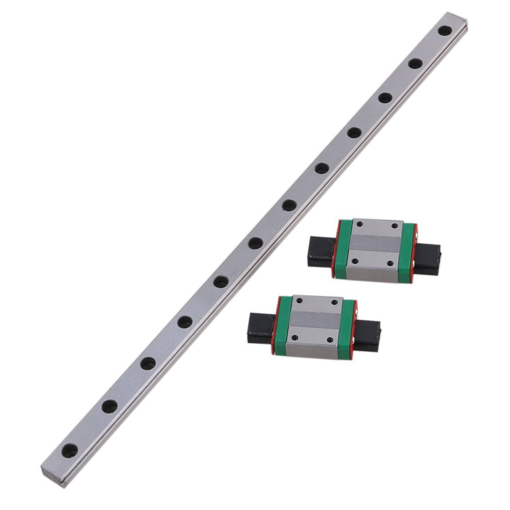 MGN12 300mm Linear Sliding Guideway Rail with Bearing Steel Mini Rail Block Precision Measurement Set of 3