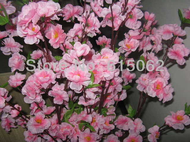 Artificial Cherry Blossom Flowers Christmas Bonsai Tree Pink Anese Peach Blossoms Wedding Branches For Decoration Long