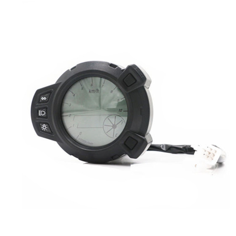 Universal 10000 RMP 7 Color Oil Level LCD Digital Speedometer Tachometer Odometer Motorcycle For Yamaha BWS 125 Chopper Touring image