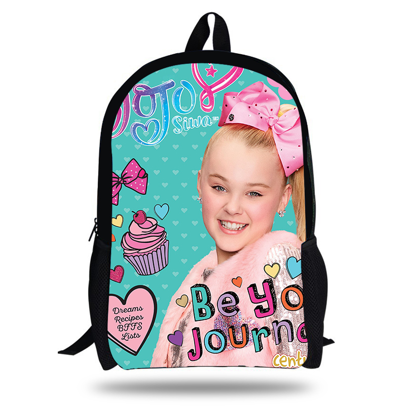 2018 Newest JOJO Siwa Printing Children School Bags Boys Teenage Girls character Superstar Colorful Daily Casual Backpacks