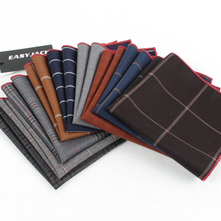 The British men s dress casual cotton color pocket towel small handkerchief napkin suit accessories