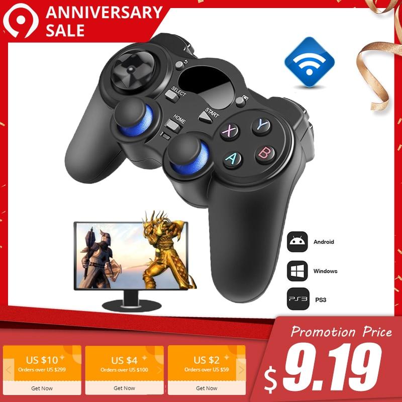 2,4g Gamepad inalámbrico Android Joystick Joypad con OTG Convertidor para PS3/teléfono inteligente para Tablet PC inteligente caja de TV